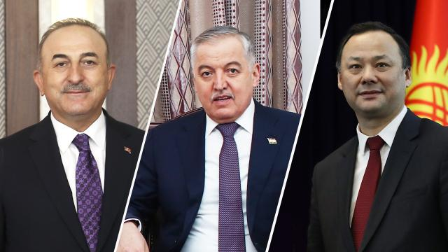 Bakan Çavuşoğlu, Tacik ve Kırgız mevkidaşlarıyla görüştü