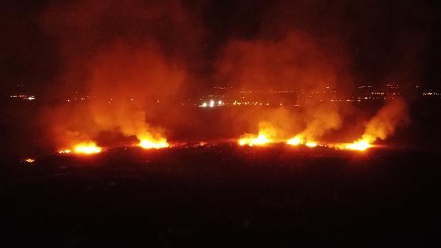 Erzincanda koruma altındaki Ekşisu Sazlık Alanında yangın