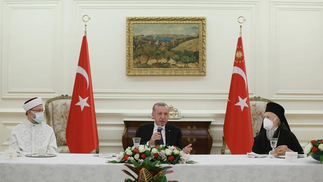 Azınlık cemaatleri temsilcilerinden Cumhurbaşkanı Erdoğana teşekkür