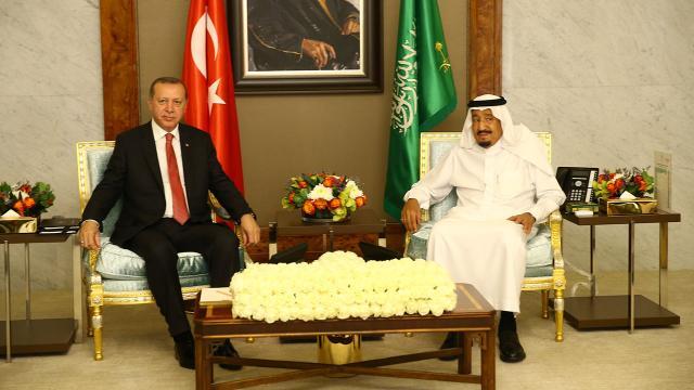 Cumhurbaşkanı Erdoğan Kral Selman ile görüştü