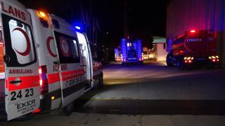 Bursa'da fabrika yangını: 6 işçi dumandan etkilendi