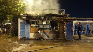 İstanbul'da Halk Ekmek büfesinde yangın