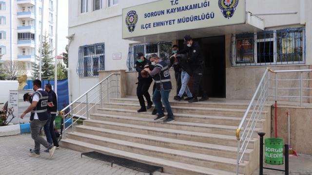 Yozgatta inşaat malzemesi çaldığı iddia edilen 5 şüpheli yakalandı