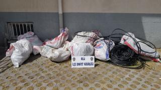 Manisa'da kablo hırsızlığı: 4 tutuklama
