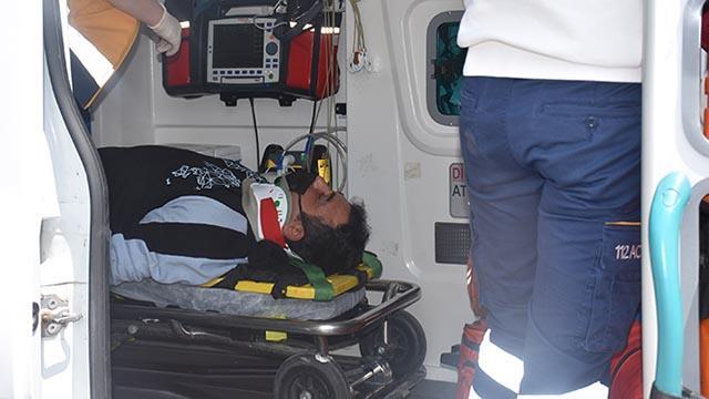 Edirnede at arabasına çarpan kurye yaralandı