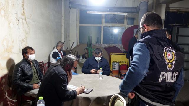 Kırıkkalede oyun oynayan 17 kişiye para cezası