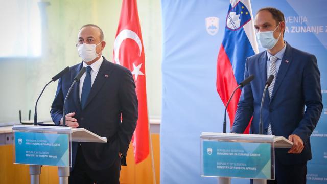 Bakan Çavuşoğlu Slovenyada