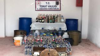 Tokat'ta sahte içki operasyonu: 4 gözaltı