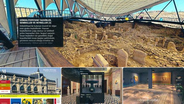 Türkiyenin ve dünyanın önde gelen müzelerinin koridorlarında sanal gezinti