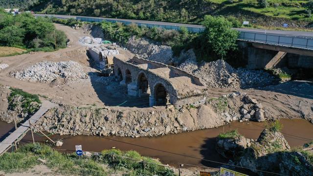Muğladaki tarihi Sarıçay Köprüsü restore ediliyor