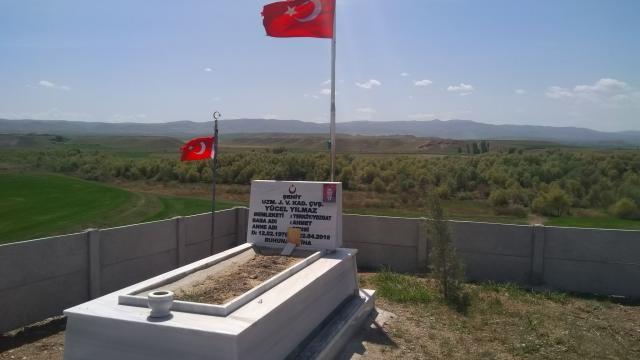 Yerköyde şehit Yücel Yılmazın mezarında çevre düzenlemesi yapıldı