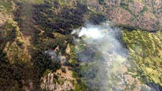 Spil Dağı Milli Parkı'nda yangın: Havadan ve karadan müdahale edildi