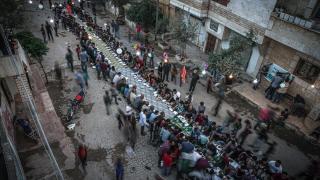 Suriye'de toplu iftar