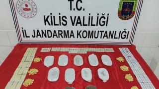 Kilis'te sınır hattında uyuşturucu ele geçirildi