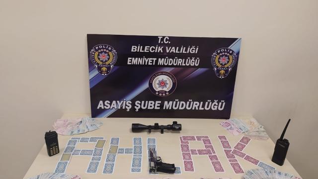 Bilecikte evde kumar oynayan 10 kişiye para cezası uygulandı
