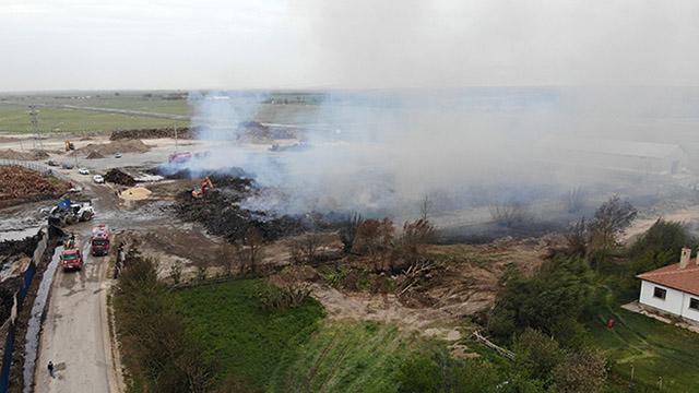 Afyonkarahisarda biyokütle enerji santralindeki yangın söndürüldü