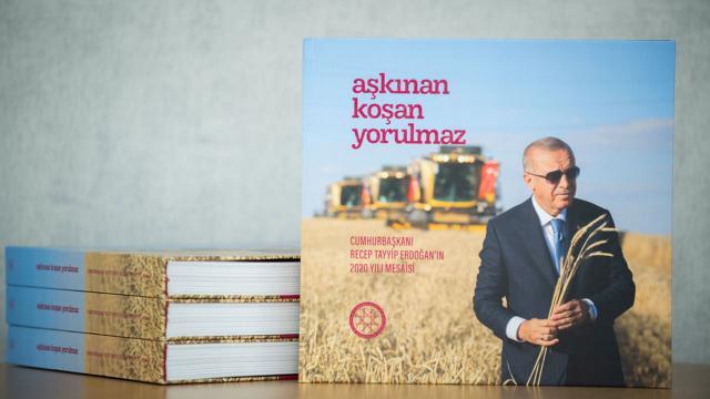 Cumhurbaşkanı Erdoğanın 2020 mesaisini anlatan kitap hazır
