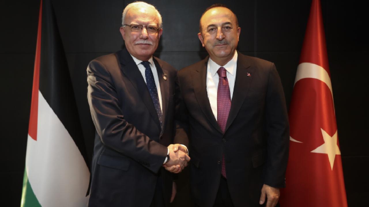 Bakan Çavuşoğlu Filistinli mevkidaşı ile görüştü