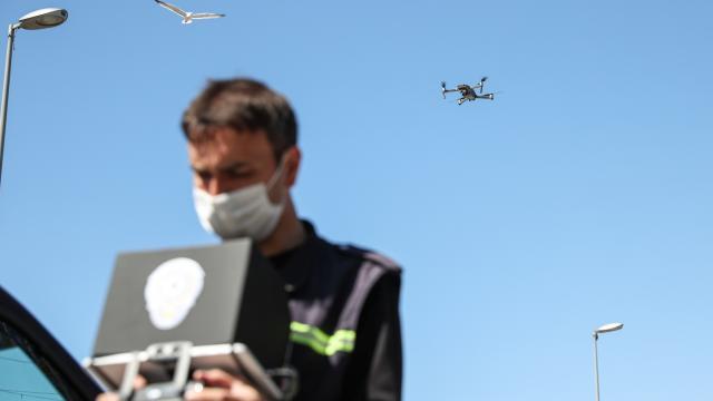 Antalyada helikopter ve drone destekli trafik denetimi yapıldı