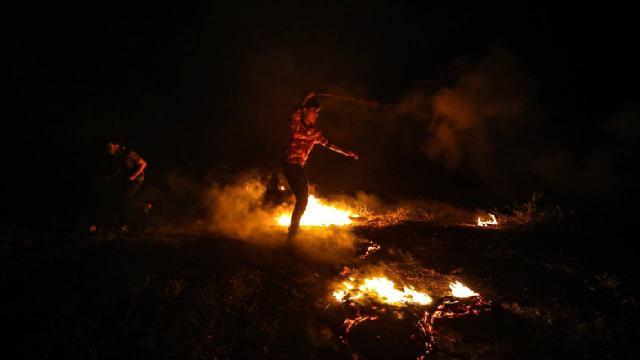 İsrail güçleri, Gazze sınırındaki protestoculara müdahale ediyor