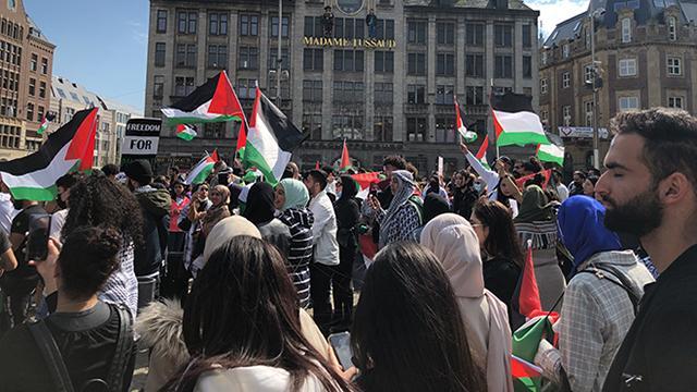 İsrailin Mescid-i Aksadaki saldırıları Hollandada protesto edildi