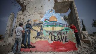 İdlibli grafiti sanatçısından Filistin halkına destek