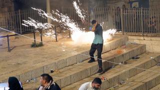 İsrail, Şam Kapısı'nda Filistinlilere müdahale etti