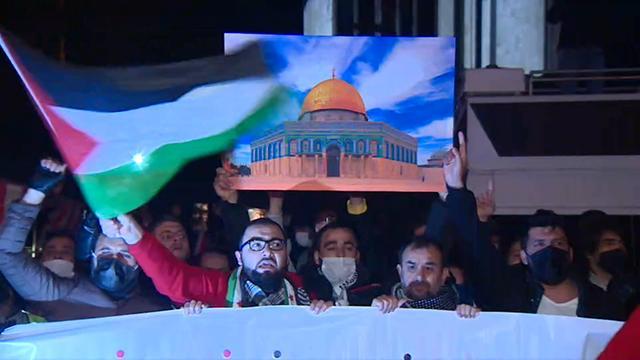 İstanbulda İsrailin Mescid-i Aksa saldırılarına tepki