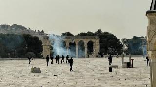 Mescid-i Aksa'da İsrail şiddeti