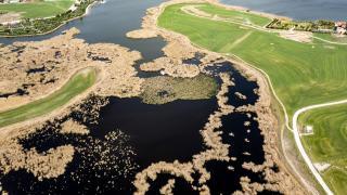 Mogan Gölü güzellikleri havadan görüntülendi