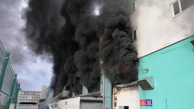 Silivride fabrika yangını