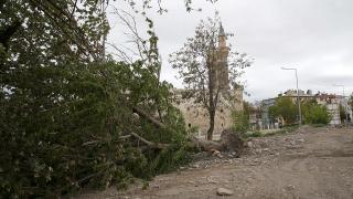 Fırtına çatıları uçurdu, ağaçları kökünden söktü