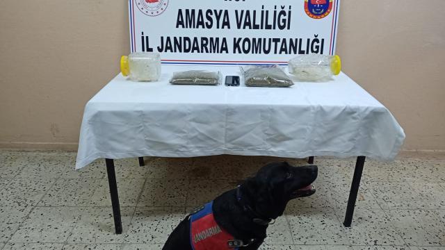 Amasyada 1 kilogram uyuşturucu ele geçirildi