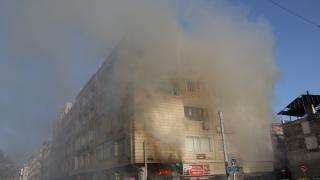 Kayseri'de iş yerinde çıkan yangın hasara neden oldu