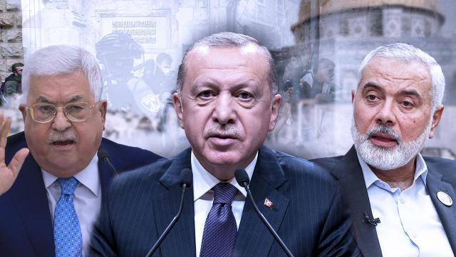 Cumhurbaşkanı Erdoğan, Mahmud Abbas ve İsmail Heniyye ile görüştü