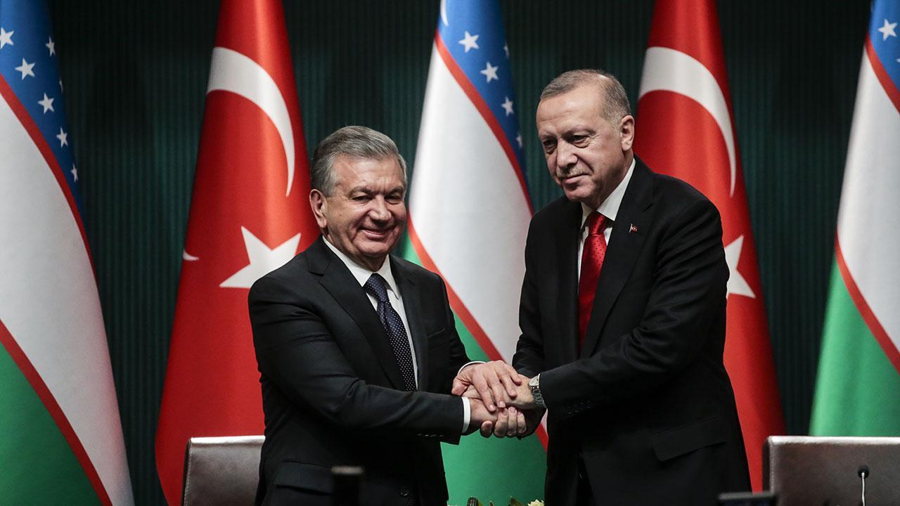 İki lider Türkiye-Özbekistan ilişkilerini görüştü