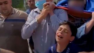 Filistinli çocuğun son vedası: Babacığım, Allah sana kolaylık versin