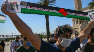 Türkiye'de İsrail'in Filistinlilere müdahaleleri protesto edildi