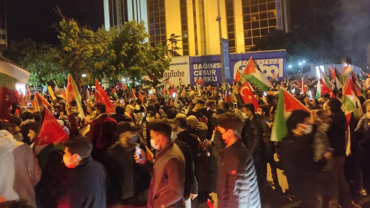 İsrail'in saldırıları yurt genelinde protesto edildi
