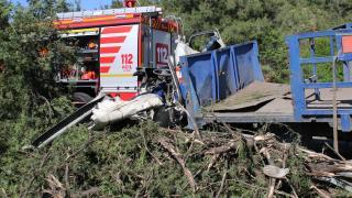 Hatay'da bariyere çarparak devrilen kamyonun sürücüsü öldü