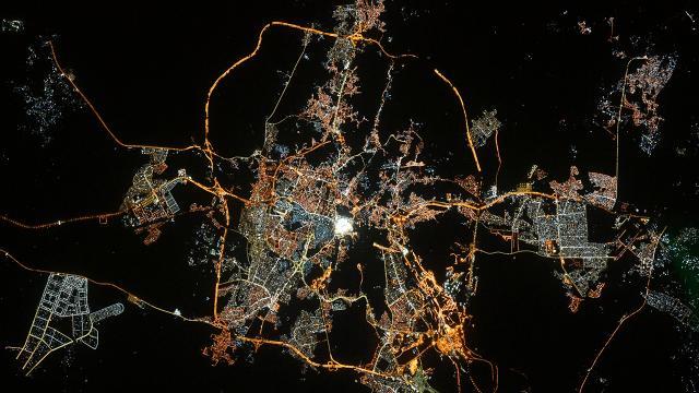 """Uzaydan """"Kabeli"""" fotoğrafla Ramazan Bayramı tebriği"""