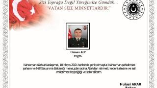 Milli Savunma Bakanı Akar'dan şehit Piyade Teğmen Alp için başsağlığı mesajı
