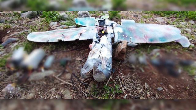 Metinada teröristlerin maket uçağı düşürüldü
