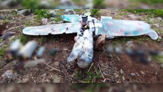 Metina'da teröristlerin maket uçağı düşürüldü