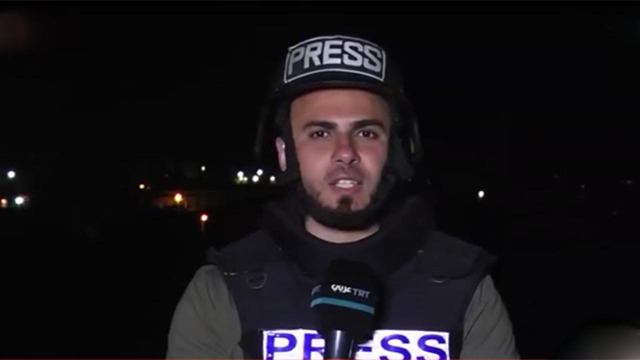 İsrail TRT yayını sırasında saldırdı