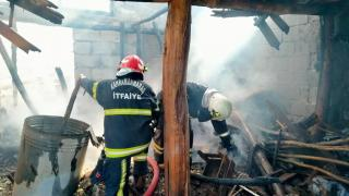 Kahramanmaraş'ta bir evde yangın çıktı