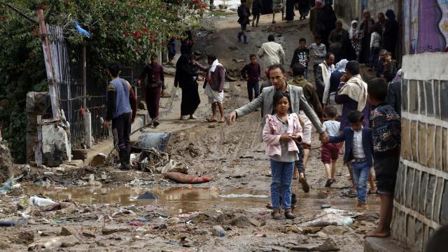Yemendeki sel felaketlerinde 41 bin kişi zarar gördü