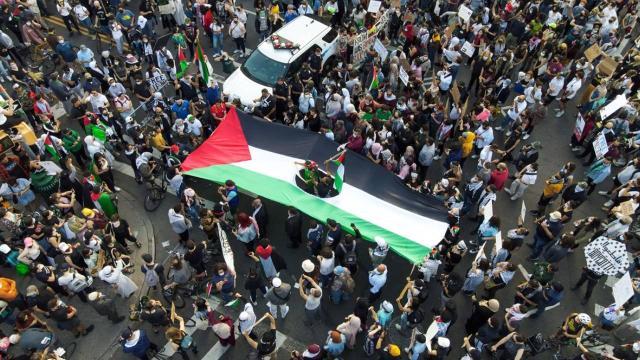 ABDde Filistine destek gösterisi