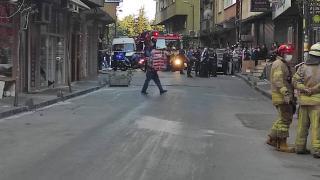 Beşiktaş'ta çökme tehlikesi bulunan 6 katlı bina boşaltıldı