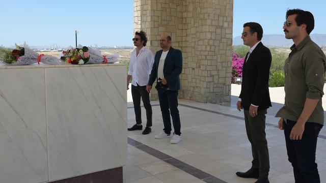'Bir Zamanlar Kıbrıs' oyuncularından anlamlı ziyaret